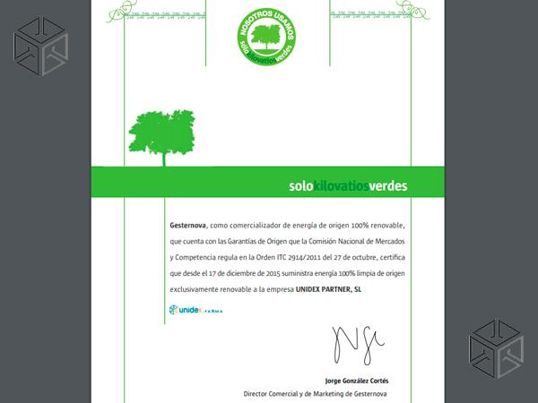 Certificado Gesternova
